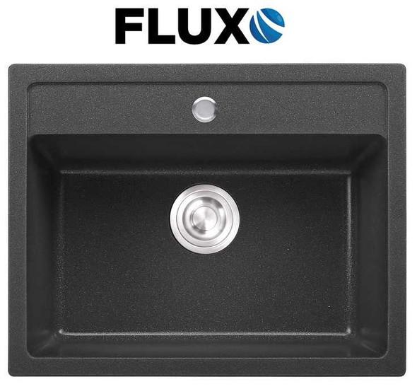 FLUXO FXS-7 QUARTZ STONE SINK 23x18x8.7INCH
