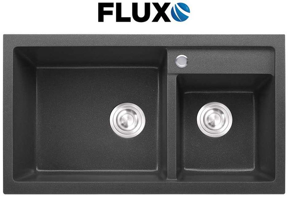 FLUXO FXS-9 QUARTZ STONE SINK DBL 31.5x18x8.7INCH