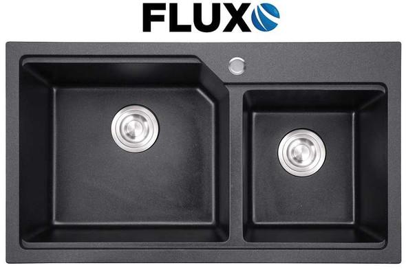 FLUXO FXS-10 QUARTZ STONE SINK DBL 32x18x8.7INCH
