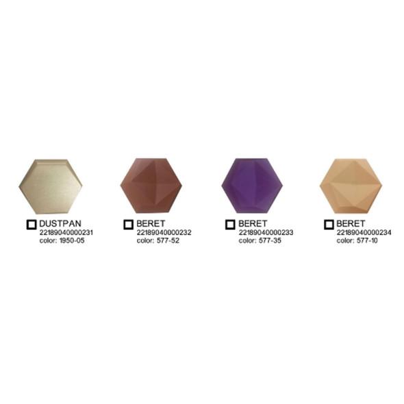EMBOSS 3D Foam Wall Decor 23.20x20cm Hexagon Beret 577-10
