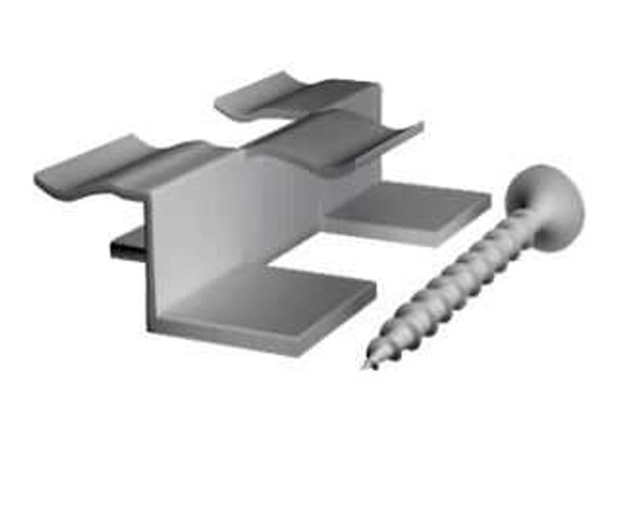 """Nuwood Wpc Accessory Stainless Clip with Screw 1"""""""