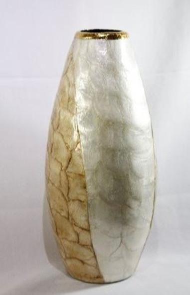Decorative Vase  Capiz Large 04 6''DIA X 15'' H