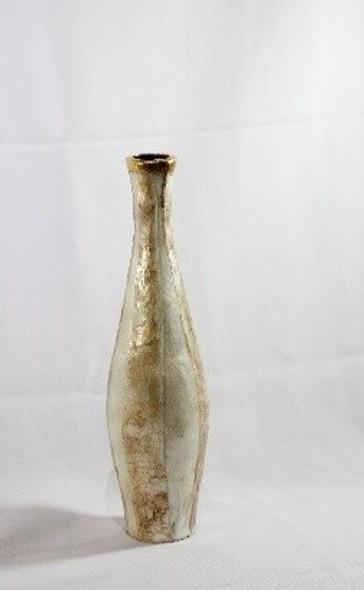 Decorative Vase Slim Capiz Large 2 4''DIA X 17.75''H