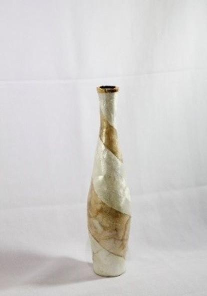 Decorative Vase Slim Capiz Large 3 4''DIA X 17.75''H