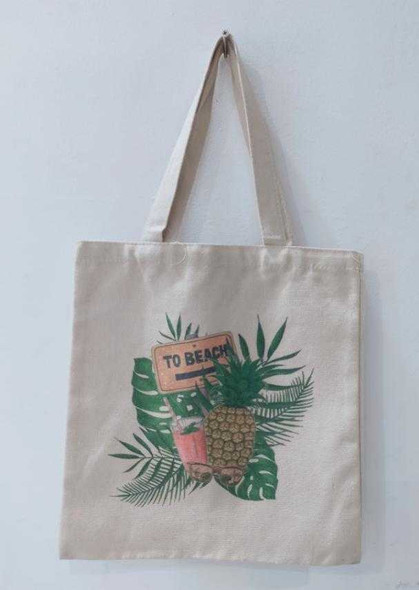 Canvass Tote Bag 22X20cm B1T1