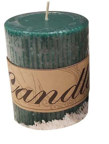 Scented Pillar Candle Green Small