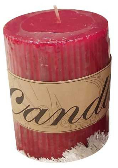 Scented Pillar Candle Red Small