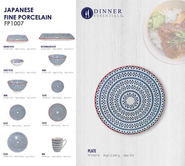 Fine Porcelain FP1007-8 Plate 8IN
