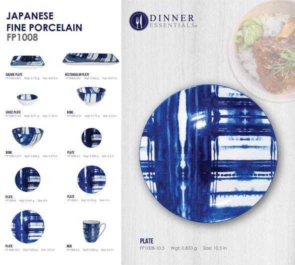 Fine Porcelain FP1008-10 Plate 10.59IN
