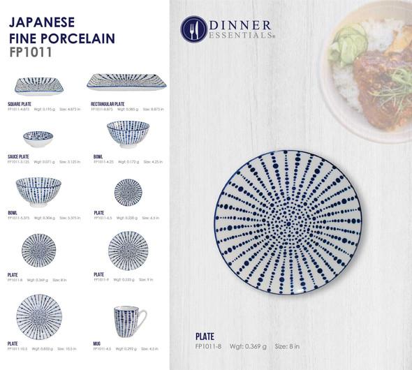 Fine Porcelain FP1011-8 Plate 8IN
