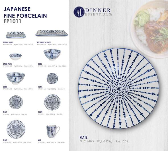 Fine Porcelain FP1011-10 Plate 10.59IN
