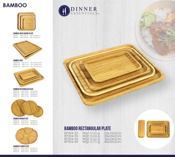 BBP004 BAMBOO RECTANGULAR PLATE