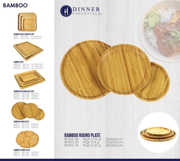 BBP005 BAMBOO ROUND PLATE