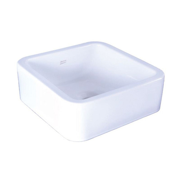 White  Square Above Counter Lavatory