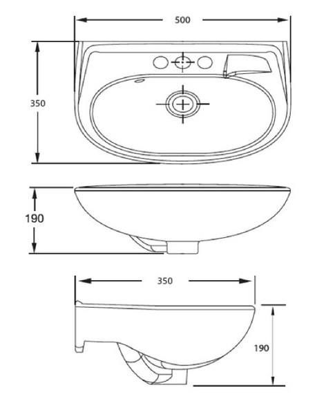 New Codie Round 350mm Wall-Hung Lavatory