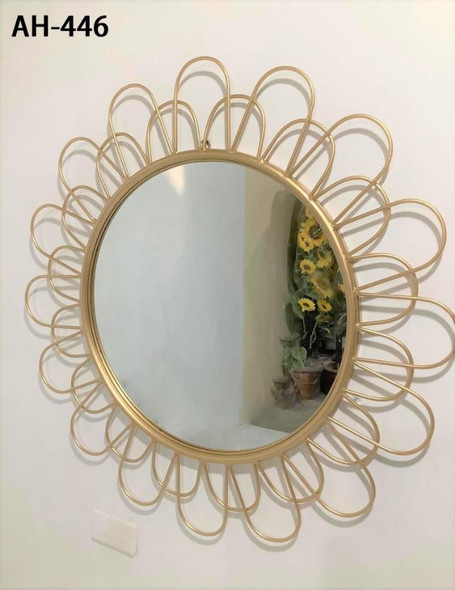 Decorative Wall Mirror Light Gold AH-446