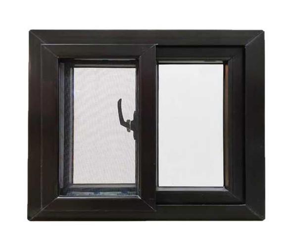 Finestra Aluminum Window Sliding Type Brown