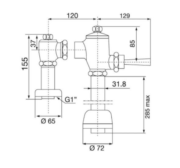 F511 Water Closet Flush Valve