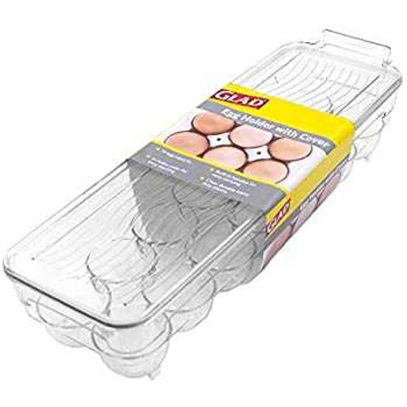 Glad Ref Organizer 14 Slots Egg Holder With Cover