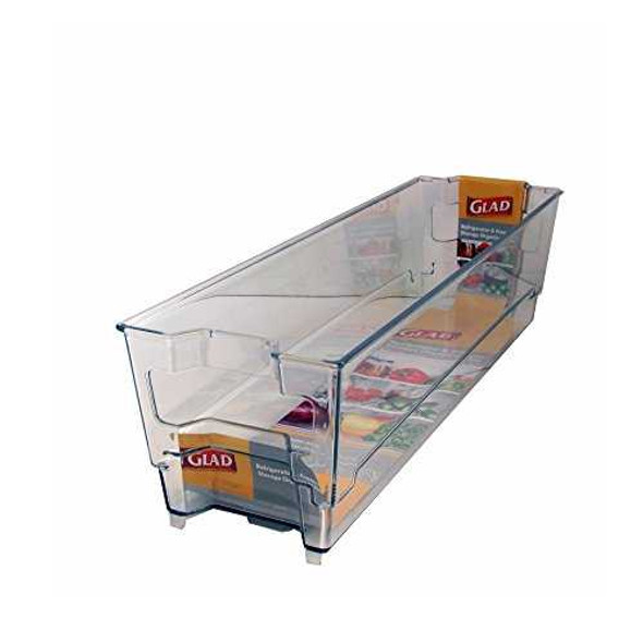 Glad Ref And Freezer Storage Organizer Bin 36.83Cmx10Cmx10Cm