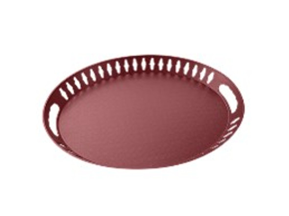 Oval Serving Tray Maroon A -320G