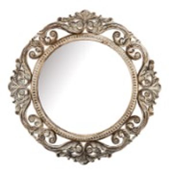 Decorative Round Wall Mirror Cream A -725B