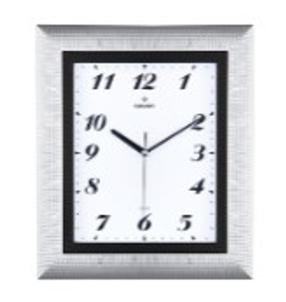 Frame Rectangular Wall Clock Silver A-97G