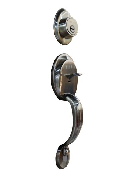 Hafele 489.10.628 Grip Handle Lock Antique Brass