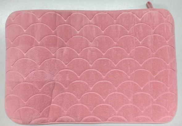 Fluxo Bath Mat 45X70 Scaloop Plain Pink