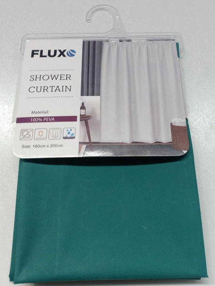 Fluxo Shower Curtain Peva 180X200 Pln Green