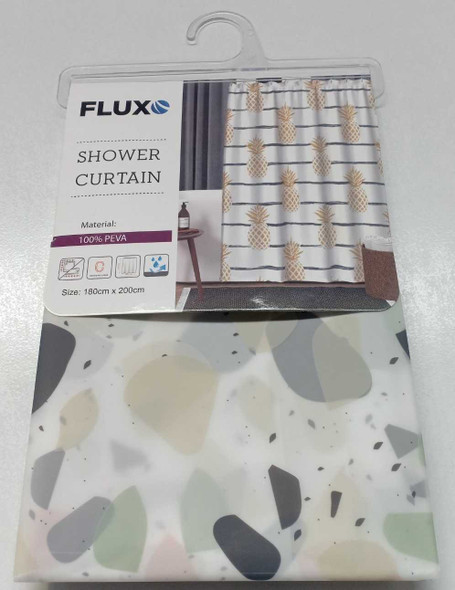 Fluxo Shower Curtain Poly 180X200 Pebbled