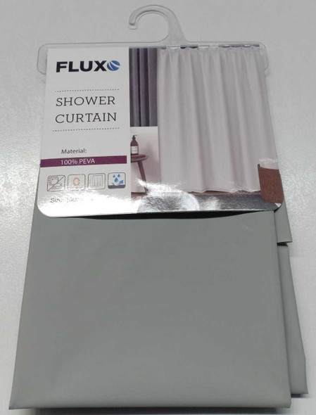 Fluxo Shower Curtain Peva 180X200 Plain Gray