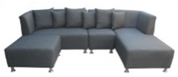 Felanie L-type Sofa with Ottoman