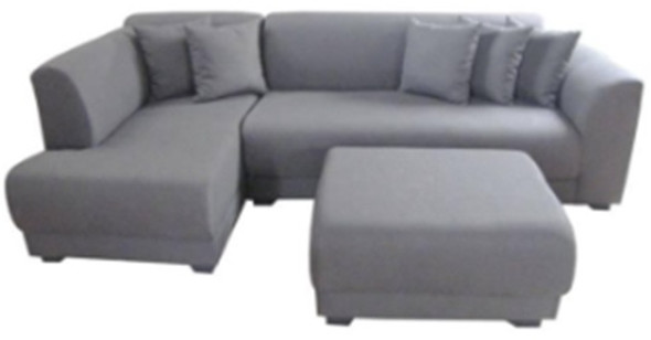 Fiddle L-type sofa with Ottoman