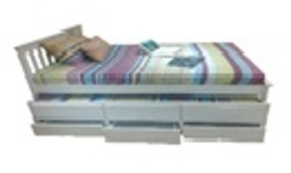 Agalvin Wooden Single Trundle Bed