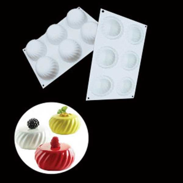 G032 Silicone CupCake Mould Round Shape 17x30cm