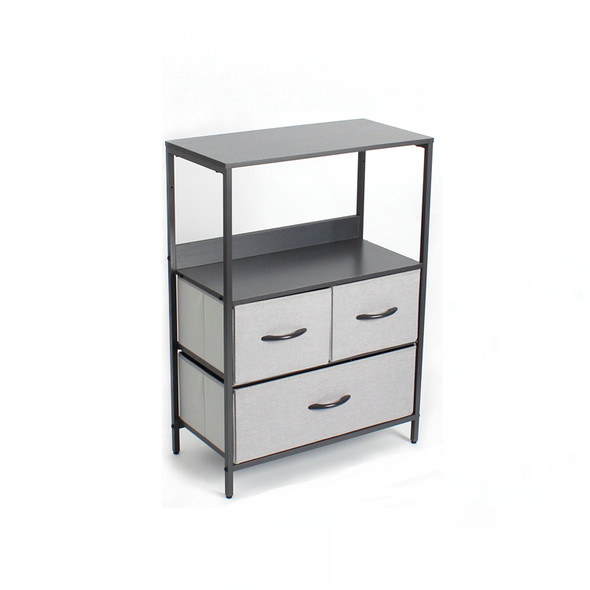 3 DRAWER STORAGE CHEST GREY