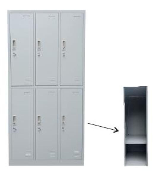 OREN 6-Door Locker Cabinet