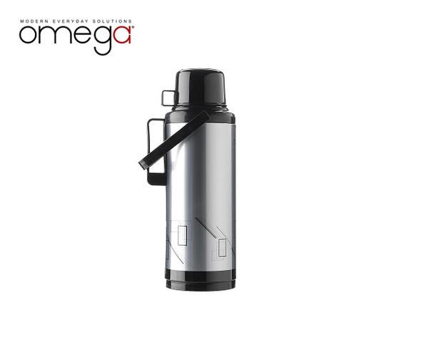 MT-KINGSLEY BLACK METAL DOUBLE CUP VACUUM FLASK IN GIFT BOX