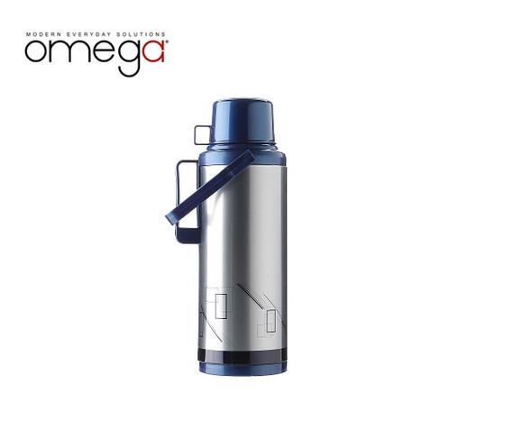MT-KINGSLEY BLUE METAL DOUBLE CUP VACUUM FLASK IN GIFTBOX