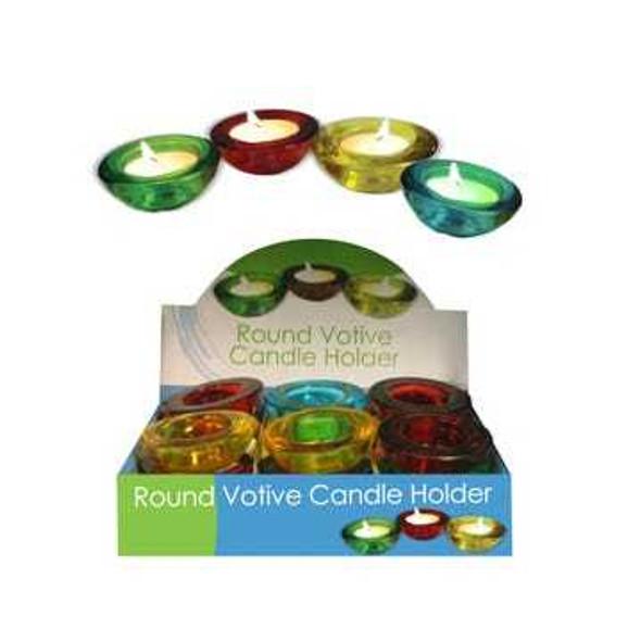 HR402 Round Glass Votive Candle Holder