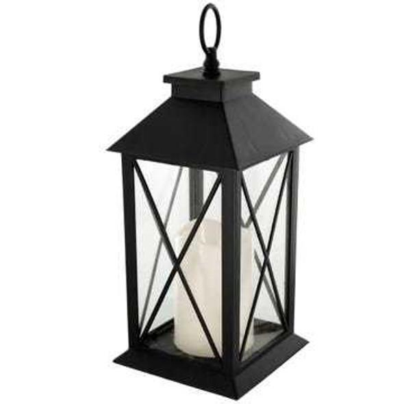 OS335 Decorative Lantern with LED Pillar Candle