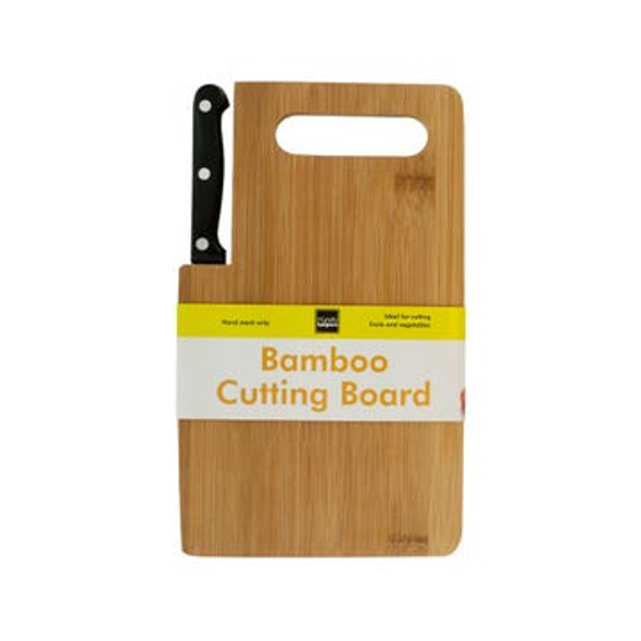 OF980 Bamboo Cutting Board with Built-In Knife