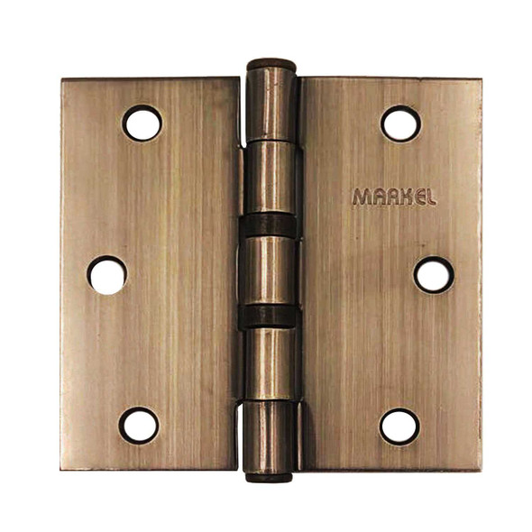 BALL BEARING HINGES 3.5 ANTIQUE BRASS
