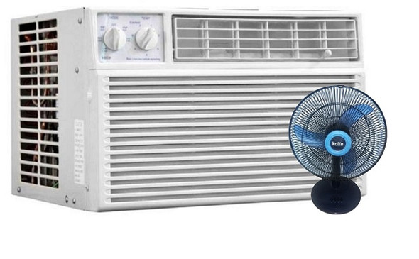KOLIN KAG-100HME4 WINDOW TYPE AC 1 HP  MANUAL WITH FREE DESK FAN