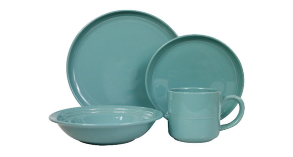 DS-ALIZAH-BLUE 8PC STONEWARE DINNER SET