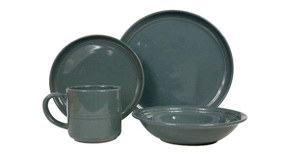 DS-ALIZAH-BLACK 8PC STONEWARE DINNER SET