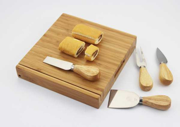 SCS451 Bamboo 4-Piece Cheese Set 20x19.5x3.5