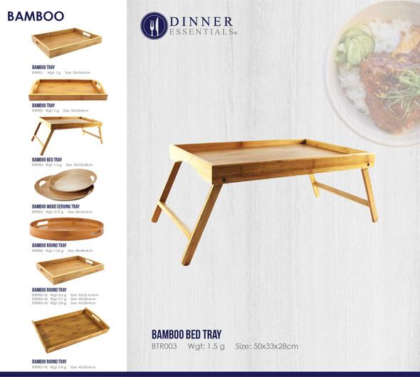 BTR003 Bamboo Bed Tray 50x33x28cm