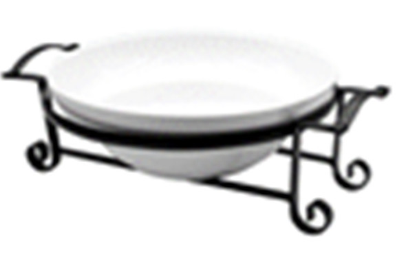 CT-AIRELL-27 SQUARE BOWL WITH BLACK METAL HANDLE